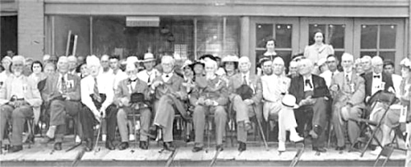 Twelve of Alabama's last surviving Confederate veterans in 1940