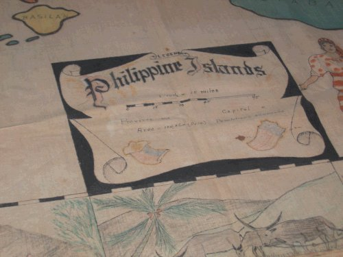 Map of the Philippines drawn by Harlan Dyer from memory