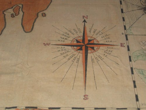 The compass rose drawn by Harlan Dyer from memory