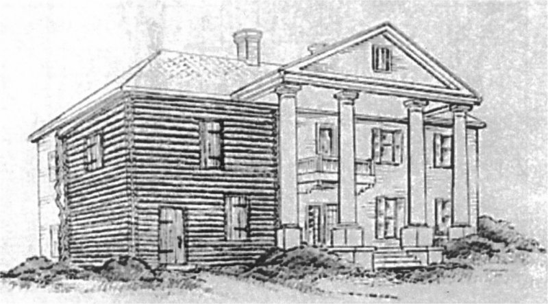 Illustration of the Andrew Ross portion of Cherokee Plantation.