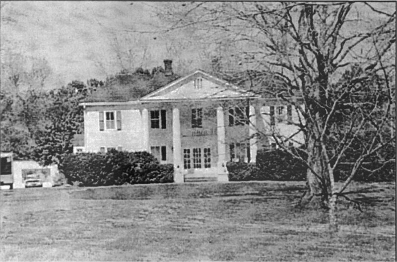Current facade of Cherokee Plantation.