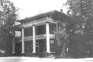 "Hotel Rainey, a mecca for tourists, salesmen and local boarders for many years. Rainey's snacks and chicken dinners became famous through the ""Butch"" service on the Southern Railway trains."