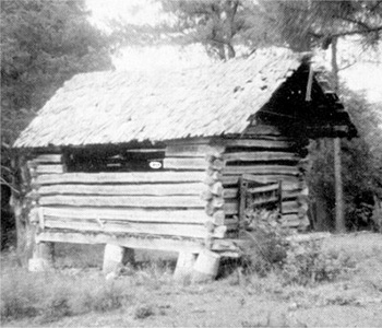 A common building of the past was a DeKalb County Corncrib.<br/>This one, approximately 115 years old, is located north of Hammondville.