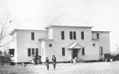 Sylvania school house in 1928.